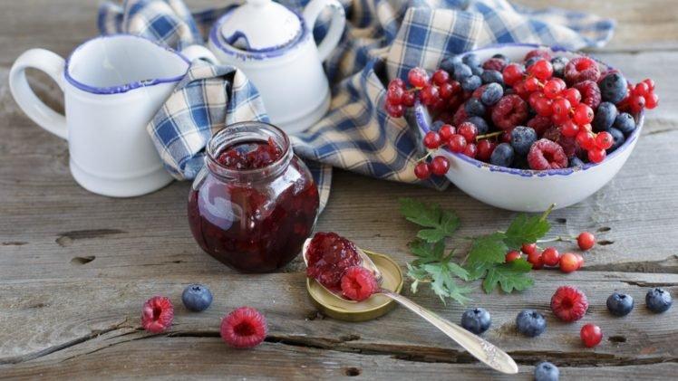 food, Blueberries, Raspberries, Cherries HD Wallpaper Desktop Background