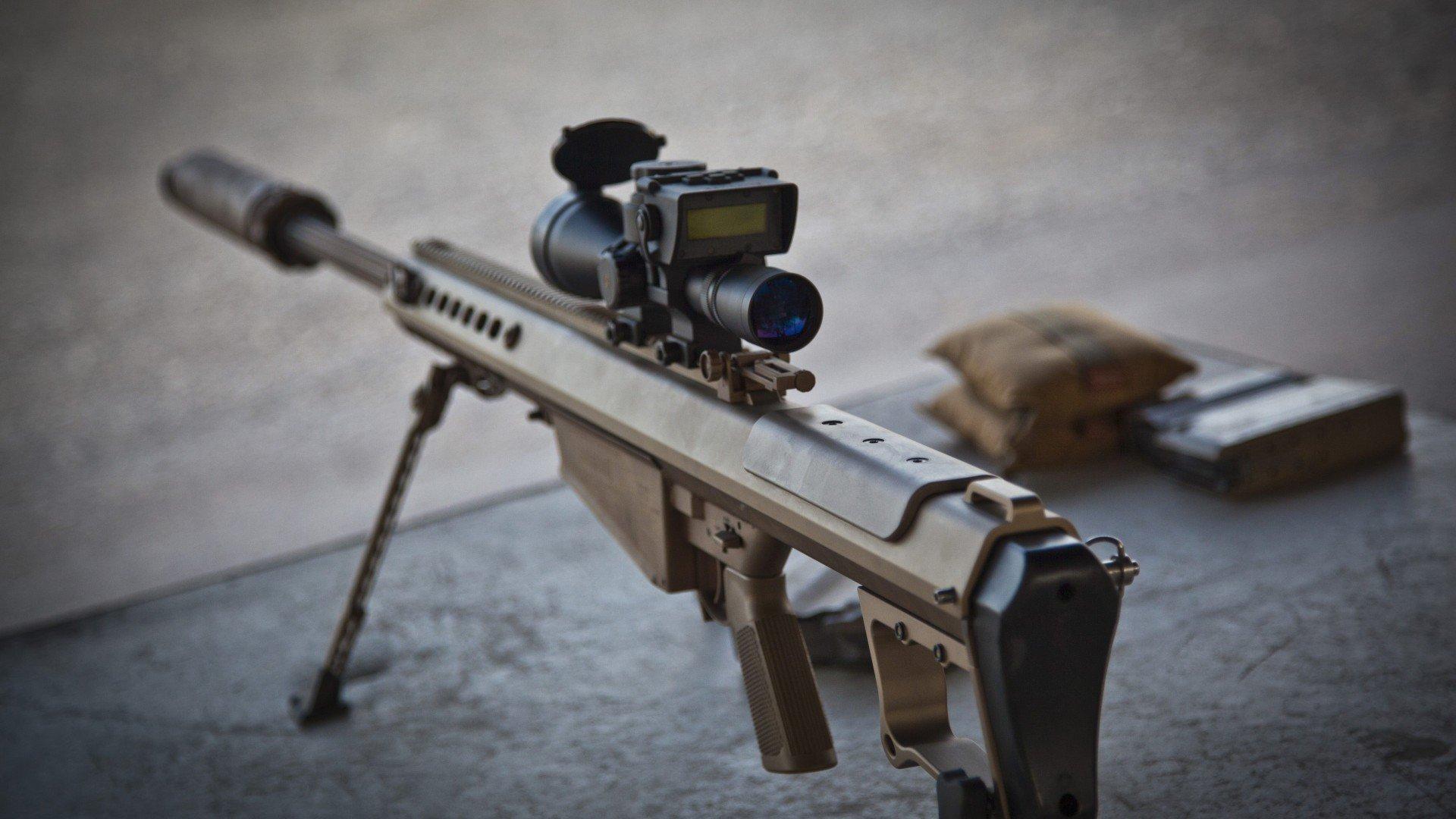 Gun barrett m82 barrett 50 cal barrett m82 a1 sniper rifle scopes hd wallpapers desktop - Barrett 50 wallpaper ...