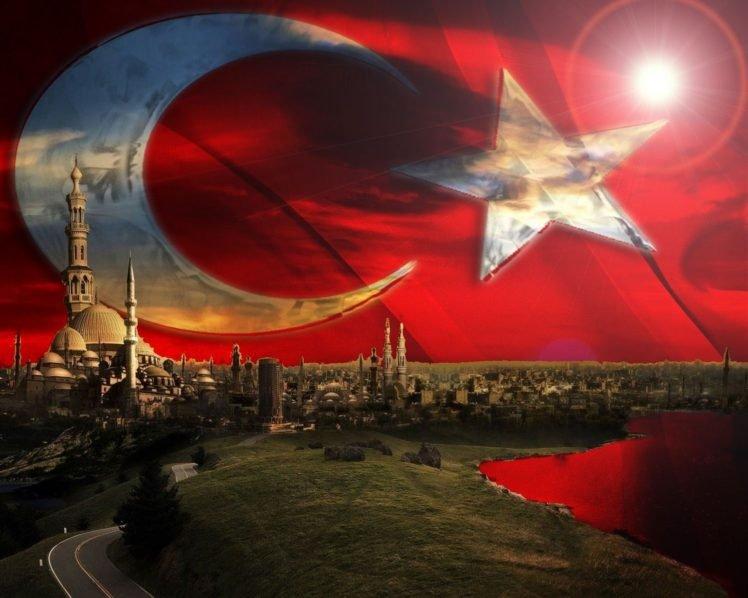 Turkey Turkish Flag HD Wallpaper Desktop Background
