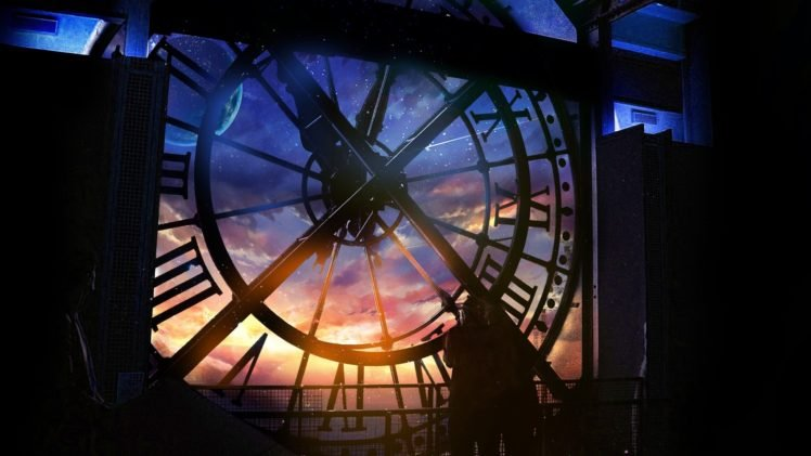 clocks, Interiors, Silhouette HD Wallpaper Desktop Background