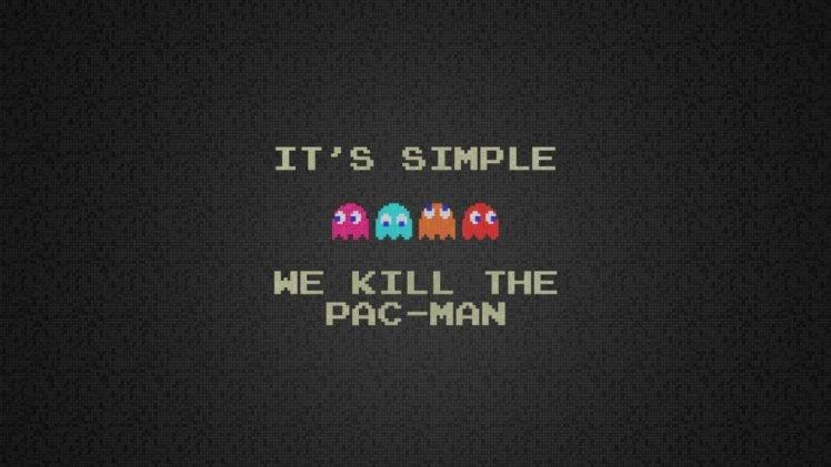 Pacman, Minimalism HD Wallpaper Desktop Background