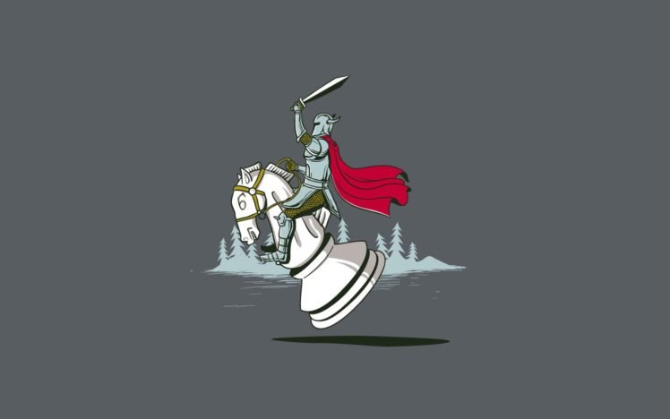 Knights Chess Knight Minimalism HD Wallpaper Desktop Background