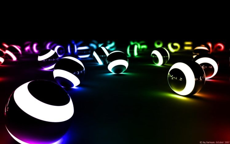 glowing, Ball, Rainbows HD Wallpaper Desktop Background