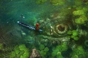 fishing, Eyes, Pond