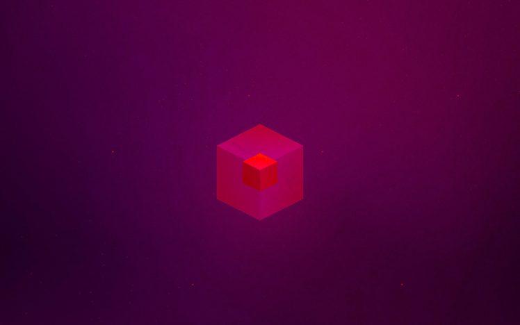 cube, Simple, Purple HD Wallpaper Desktop Background