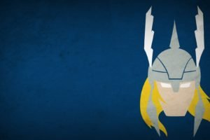 Thor, Minimalism, Blo0p, Blue background