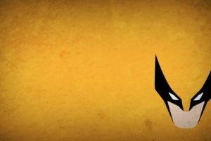 Wolverine, Minimalism, Blo0p, Yellow background