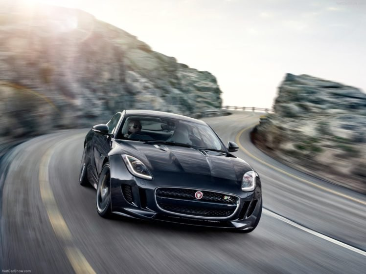 2015, Jaguar F Type, Coupe, Black, Road HD Wallpaper Desktop Background