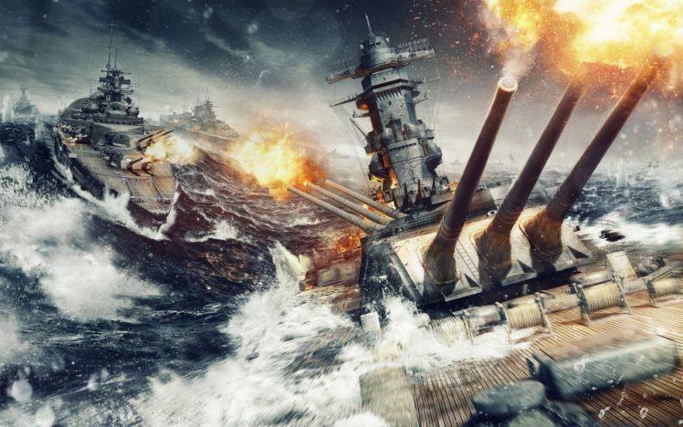 World of Warships, Ship, Battle HD Wallpaper Desktop Background