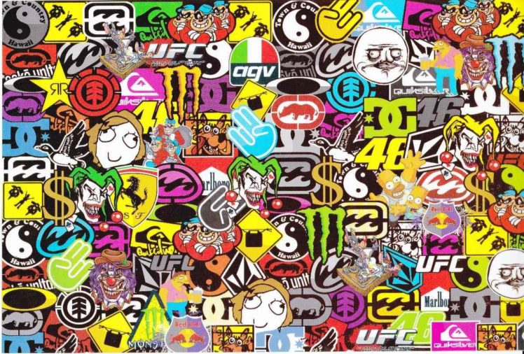 Sticker Bomb, Sticks, Bomb HD Wallpaper Desktop Background