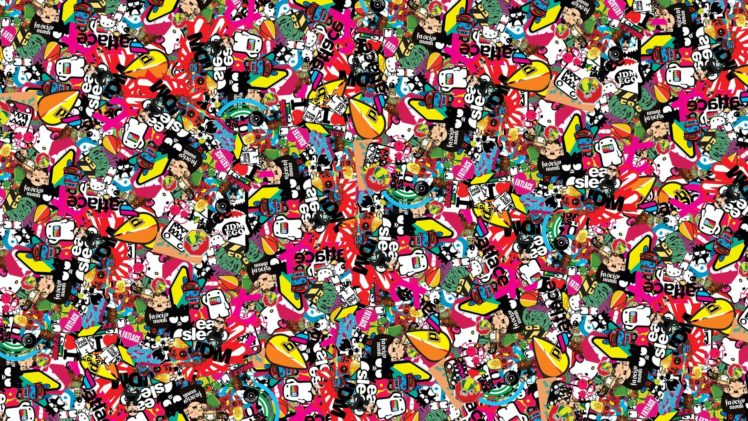 Sticker Bomb Sticks HD Wallpaper Desktop Background