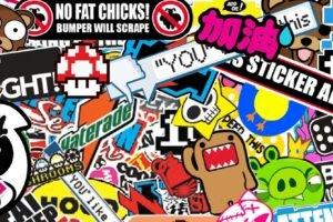 Sticker Bomb, Sticks, Bomb