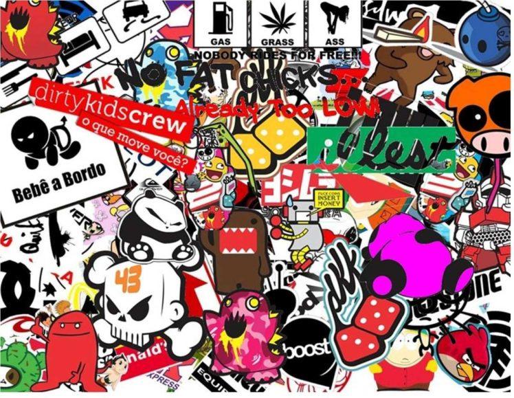 Sticker Bomb, Sticks, Bomb HD Wallpaper Desktop Background