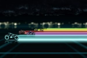 colorful, Tron, Light Cycle