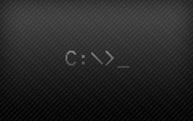 Code Minimalism Microsoft Windows Command Lines HD Wallpaper Desktop Background