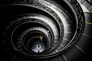 stairs, Handrail, Vatican City, Museum, Tourism, Architecture, Rome, Italy, Decorations, Coat of arms
