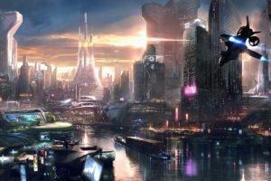 cyberpunk, Science fiction, Futuristic