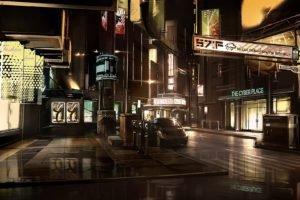 cyberpunk, Deus Ex, Concept art