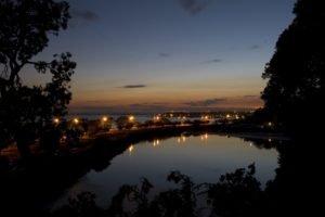 cityscape, Pond