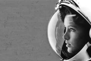 astronaut, Anna Lee Fisher, Monochrome