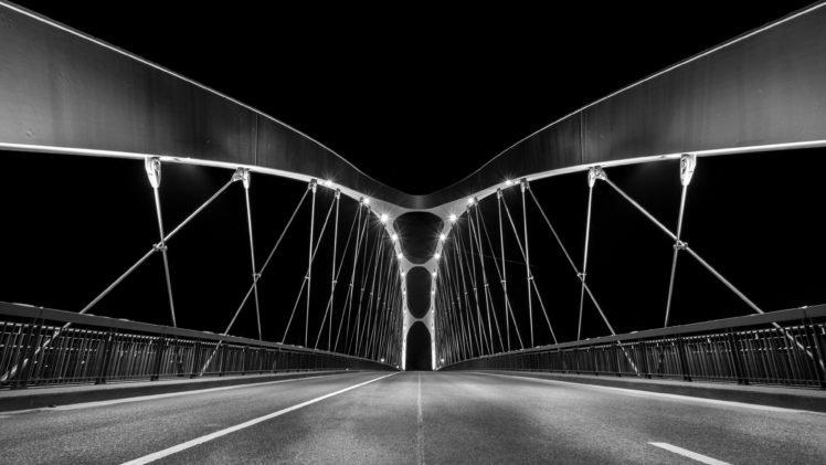 bridge, Frankfurt HD Wallpaper Desktop Background