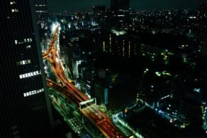 highway, Tokyo, Cityscape, Night