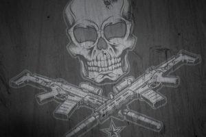 skull, Gun