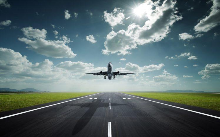 airplane, Runway HD Wallpaper Desktop Background