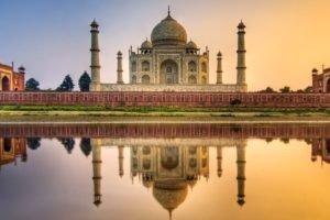 reflection, Taj Mahal