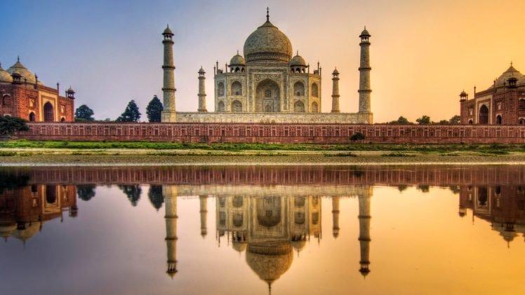 Reflection Taj Mahal Hd Wallpapers Desktop And Mobile Images Photos