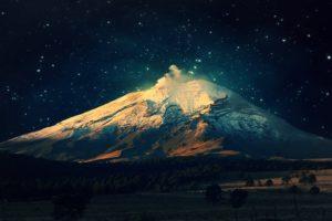 stars, Mount Fuji