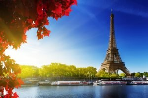 Paris, Eiffel Tower, Sunlight, Boat, Fall