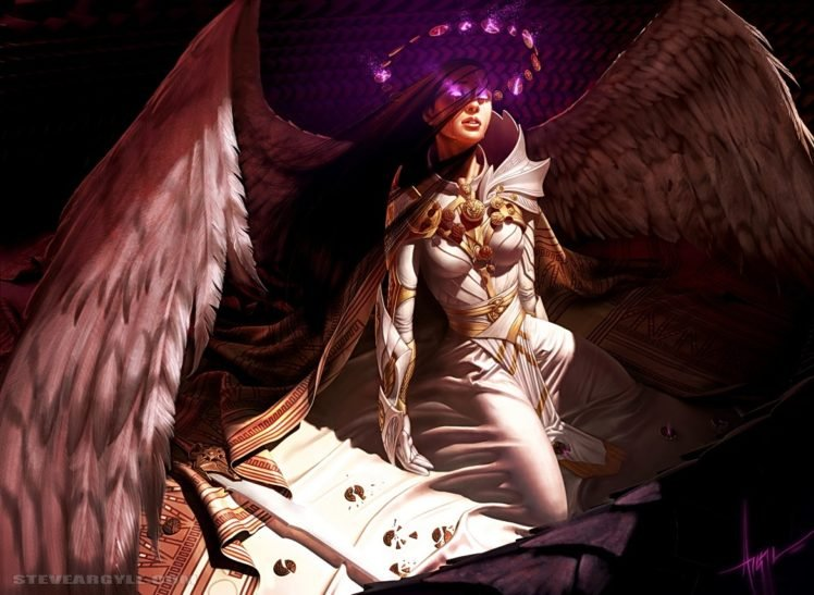 Angel Wings Magic The Gathering Hd Wallpapers Desktop And