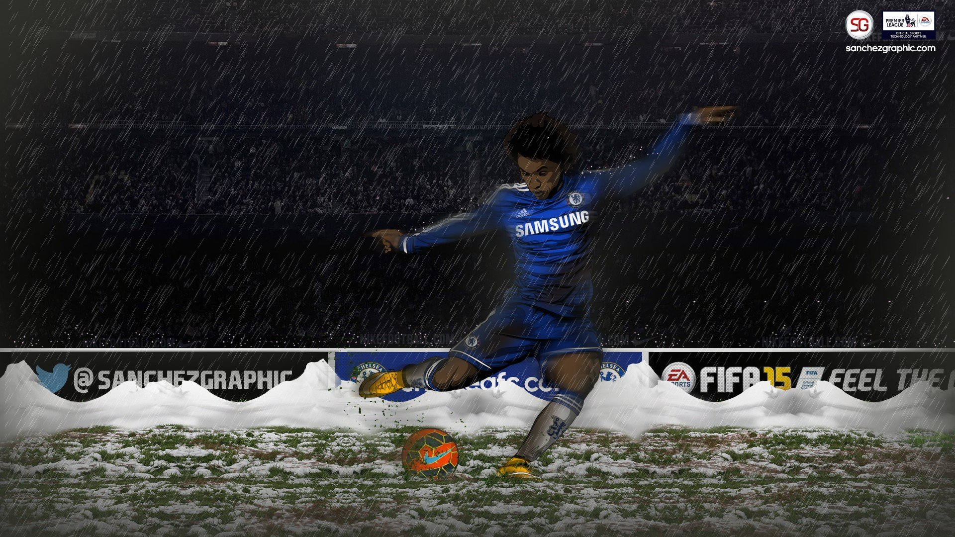 Willian, Sanchez Graphics, Chelsea FC HD Wallpapers
