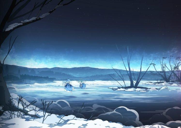 manga, Snow, Touhou, Cirno HD Wallpaper Desktop Background