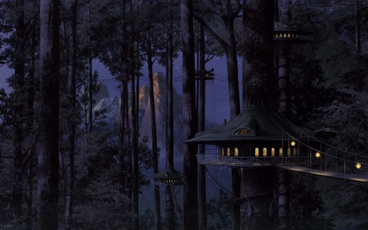 trees, Bridge HD Wallpaper Desktop Background