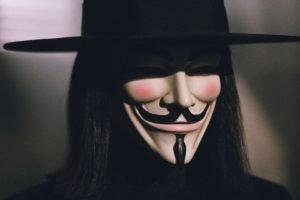 Guy Fawkes mask, V for Vendetta