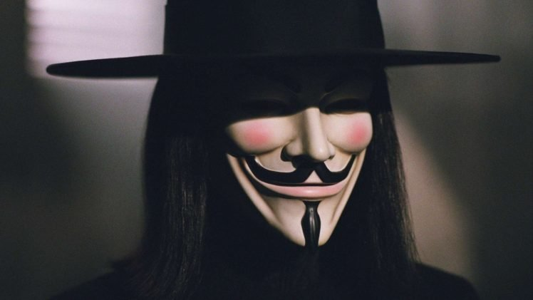 V For Vendetta Mask Wallpaper Guy Fawkes mask...
