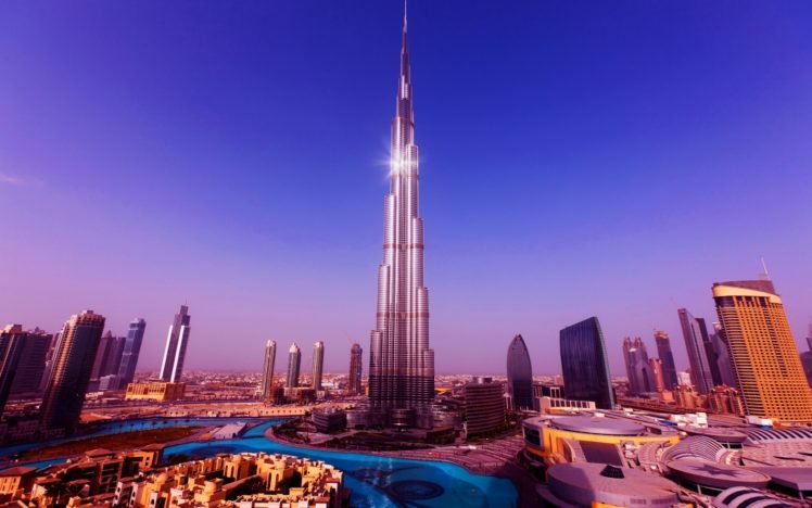 Burj Khalifa Cityscape Dubai Building Hd Wallpapers Desktop And