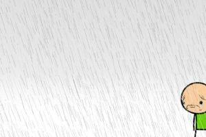Cyanide and Happiness, Sad, White background, Rain