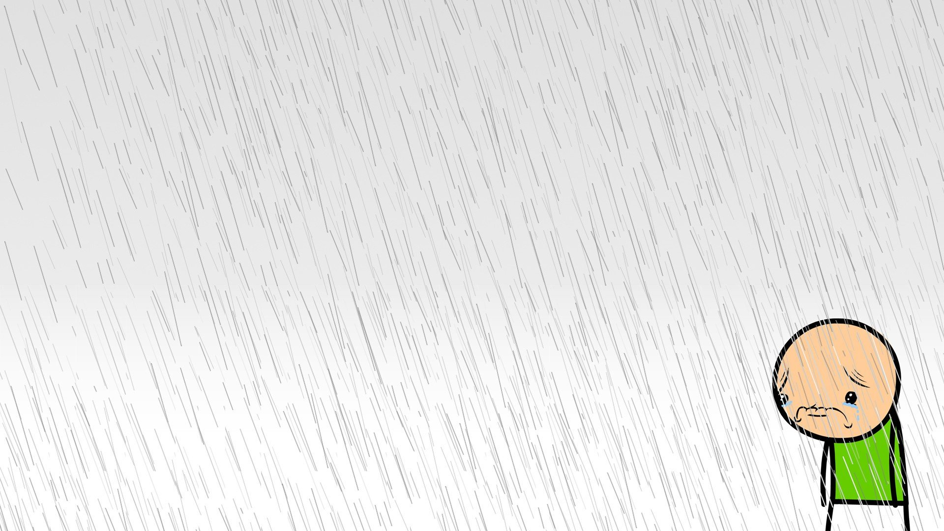 Cyanide And Happiness Sad White Background Rain Hd Wallpapers Desktop And Mobile Images Photos