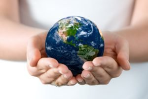 Earth, Globes, Miniatures, Hand, Fingers, Symbols
