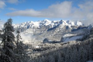 mountain, Snow