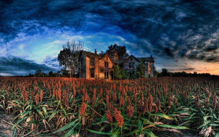 HDR, Abandoned, Building HD Wallpaper Desktop Background