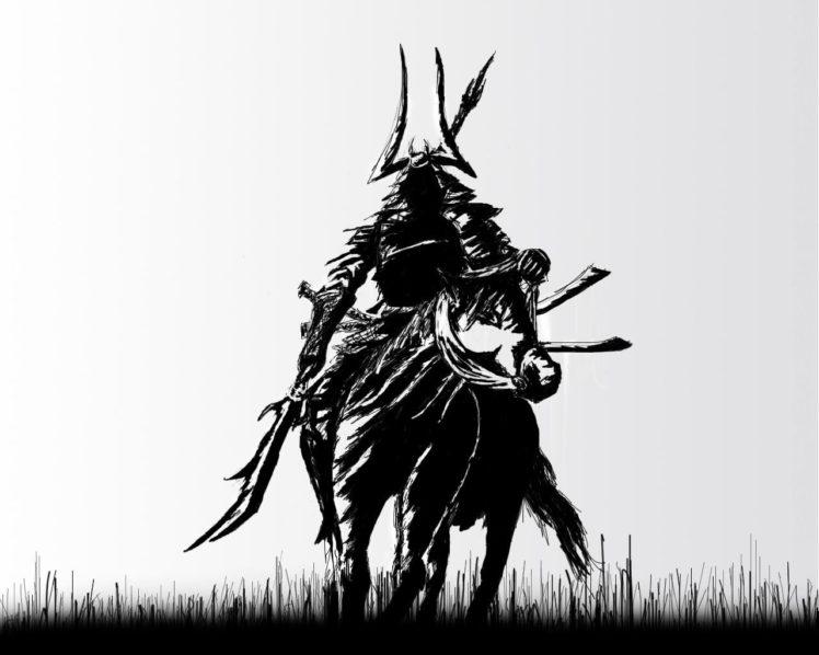 samurai, Fan art HD Wallpaper Desktop Background