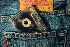 cassette, Jeans, Denim