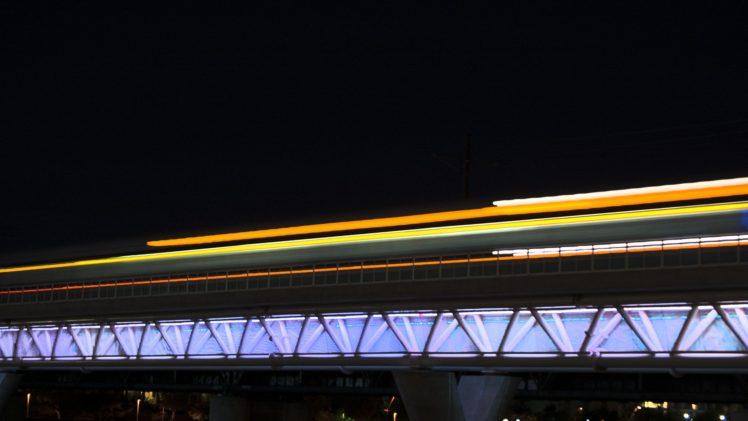 urban, Long exposure, Bridge, Light trails HD Wallpaper Desktop Background