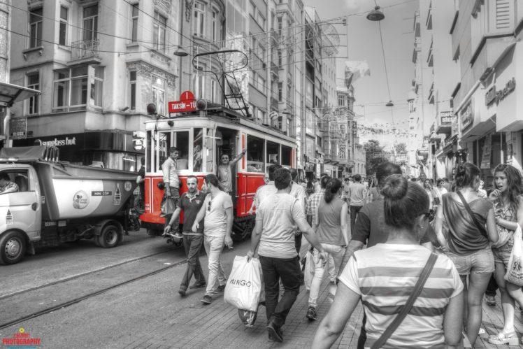 İstiklal Caddesi, Istanbul, Turkey, Taksim HD Wallpaper Desktop Background