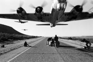 monochrome, Airplane, Star engine