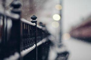 fence, Depth of field, Bokeh, Snow